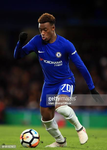 Callum HudsonOdoi of Chelsea during the FA Cup 5th Round match between Chelsea and Hull City at Stamford Bridge on February 16 2018 in London England