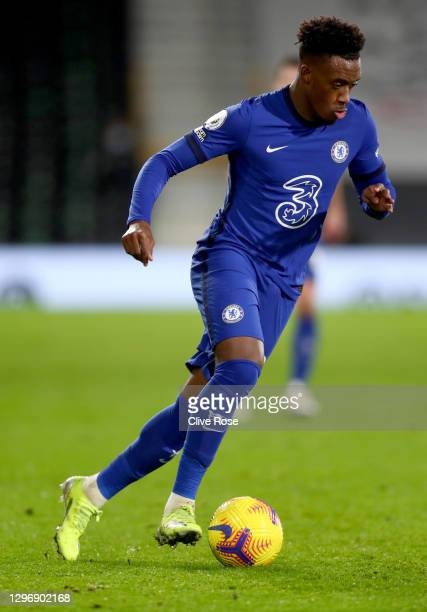 Callum Hudson-Odoi of Chelsea during the Premier League match between Fulham and Chelsea at Craven Cottage on January 16, 2021 in London, England....