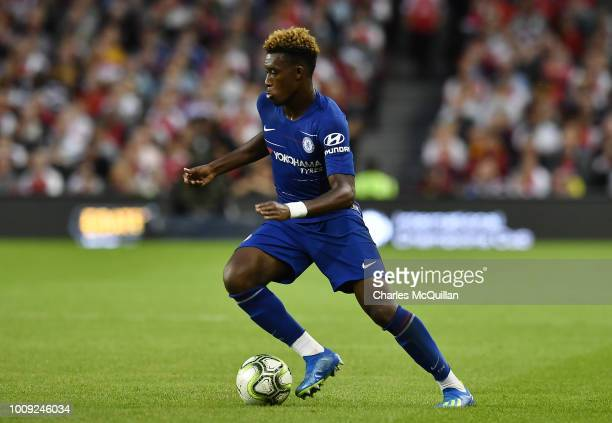 Callum HudsonOdoi of Chelsea during the Preseason friendly International Champions Cup game between Arsenal and Chelsea at Aviva stadium on August 1...