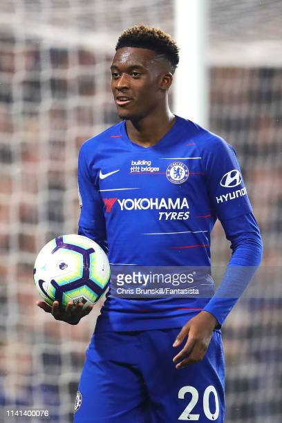 Callum HudsonOdoi of Chelsea looks on during the Premier League match between Chelsea FC and West Ham United at Stamford Bridge on April 08 2019 in...