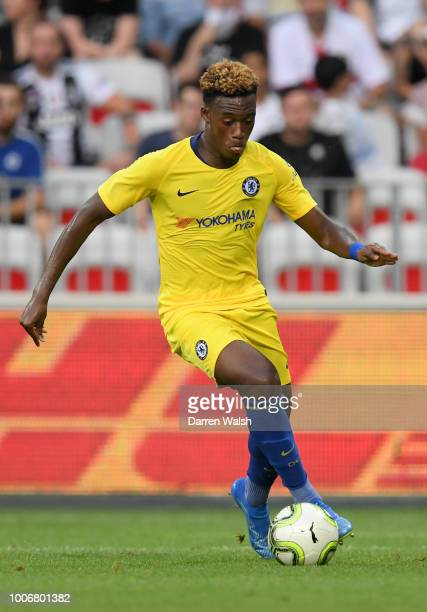 Callum HudsonOdoi of Chelsea runs with the ball during the International Champions Cup 2018 match between Chelsea and FC Internazionale at Allianz...