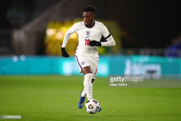 Callum Hudson-Odoi of England during the UEFA Euro Under 21 Qualifier match between England U21 and Albania U21 at Molineux on November 17, 2020 in...