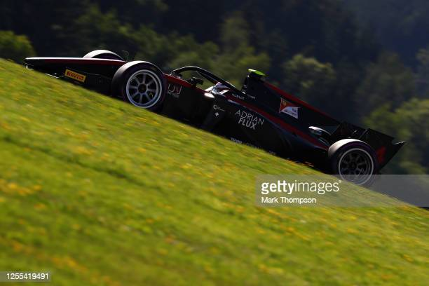Callum Ilott of Great Britain and UNI-Virtuosi Racing drives during qualifying for the Formula 2 Championship at Red Bull Ring on July 10, 2020 in...