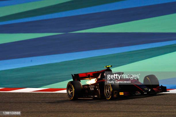 Callum Ilott of Great Britain and UNI-Virtuosi Racing drives during qualifying ahead of Round 11:Sakhir of the Formula 2 Championship at Bahrain...