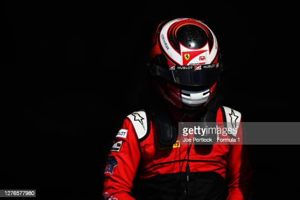 Callum Ilott of Great Britain and UNI-Virtuosi Racing following practice ahead of the Formula 2 Championship at Sochi Autodrom on September 25, 2020...