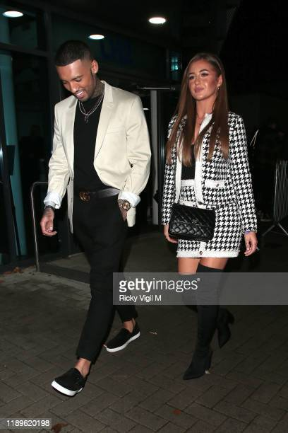 Callum Izzard and Georgia Steel seen leaving LH2 studios after Celebrity X Factor on November 23 2019 in London England