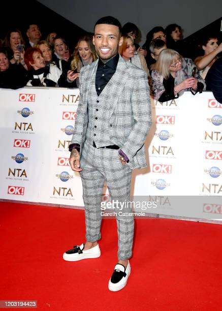 Callum Izzard attends the National Television Awards 2020 at The O2 Arena on January 28 2020 in London England