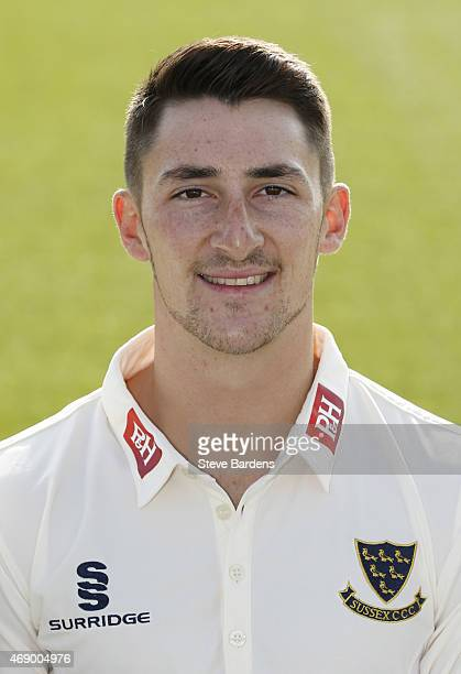 Callum Jackson during the Sussex County Cricket Photocall at BrightonandHoveJobs.com County Ground on April 9, 2015 in Hove, England.