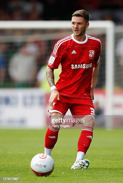 Callum Kennedy of Swindon Town in action during the npower League Two match between Swindon Town FC and Oxford United at the County Ground on August...