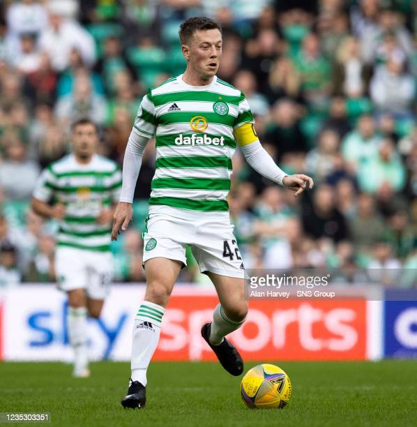 Callum McGregor in action for Celtic during a cinch Premiership match between Celtic and Ross County at Celtic Park on September 11 in Glasgow,...