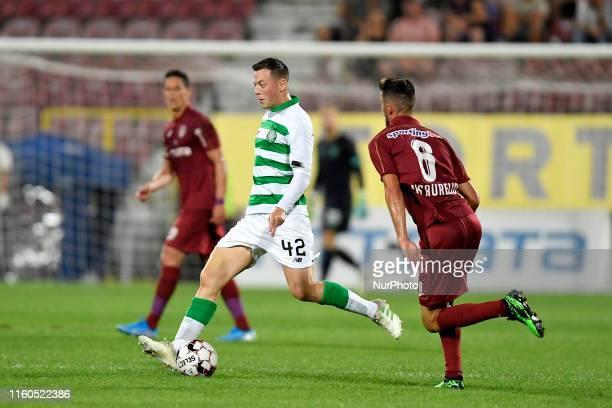 Callum McGregor of Celtic FC in action against Luis Coimbra Aurelio of CFR Cluj during the UEFA Champions League 2019/2020 Third Qualifying Round...