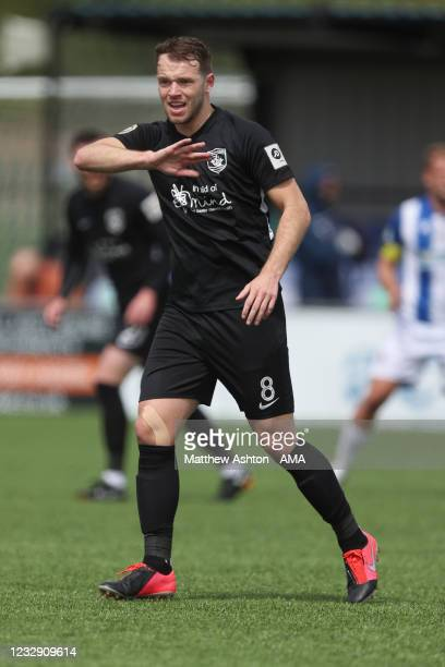 Callum Norris of Connah's Quay Nomads during the Cymru Welsh Premier League match between Penybont and Connah's Quay Nomads at The SDM Glass Stadium...