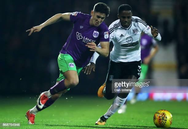 Callum O'Dowda of Bristol City battles for the ball with Ryan Sessegnon of Fulham during the Sky Bet Championship match between Fulham and Bristol...