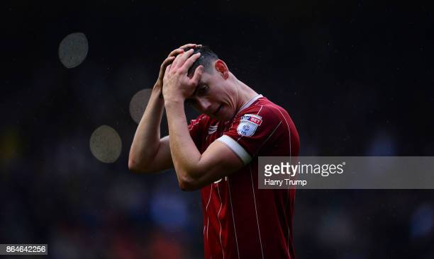 Callum O'Dowda of Bristol City cuts a dejected figure during the Sky Bet Championship match between Bristol City and Leeds United at Ashton Gate on...