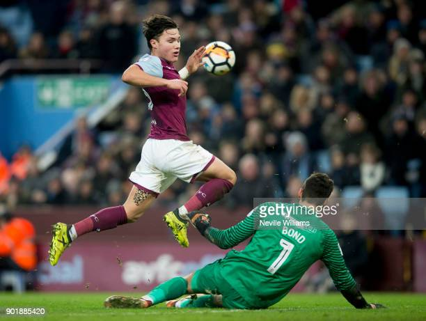 Callum O'Hare of Aston Villa during the The Emirates FA Cup Third Round match between Aston Villa and Peterborough United at Villa Park on January 06...