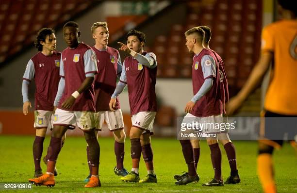 Callum O'Hare of Aston Villa scores for Aston Villa during the Premier League 2 match between Aston Villa and Wolverhampton Wanderers at Banks'...