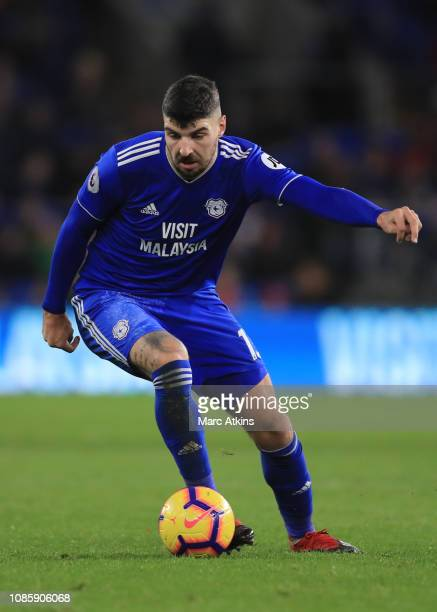 Callum Paterson of Cardiff City during the Premier League match between Cardiff City and Manchester United at Cardiff City Stadium on December 22...