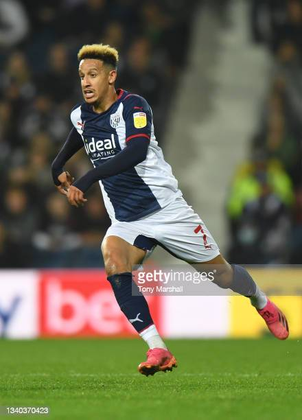 Callum Robinson of West Bromwich Albion during the Sky Bet Championship match between West Bromwich Albion and Derby County at The Hawthorns on...