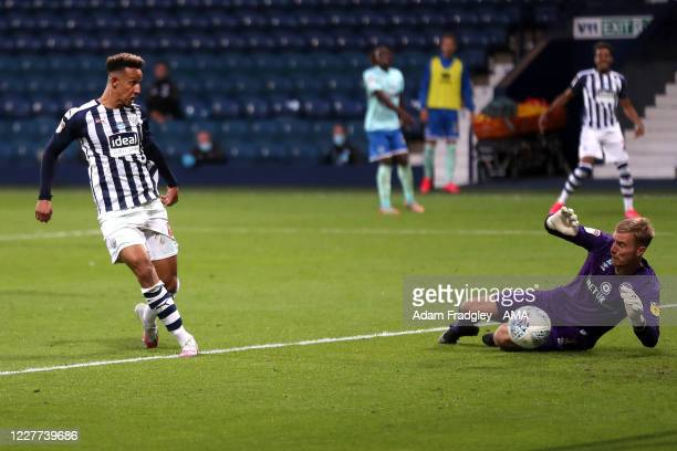 Callum Robinson of West Bromwich Albion scores a goal to make it 21 during the Sky Bet Championship match between West Bromwich Albion and Queens...