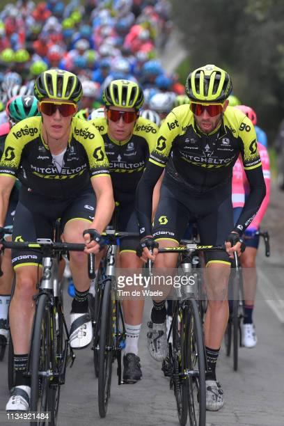 Callum Scotson of Australia and Team Mitchelton - Scott / Nicholas Schultz of Australia and Team Mitchelton - Scott / Damien Howson of Australia and...
