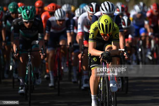 Callum Scotson of Australia and Team Mitchelton - Scott / Peloton / during the 6th UAE Tour 2020, Stage 3 a 184km stage from Al Qudra Cycle Track to...