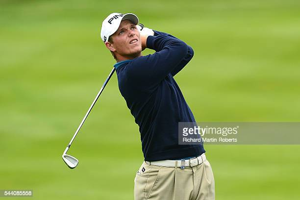Callum Shinkwin of England hits an approach shot during the second round of the 100th Open de France at Le Golf National on July 1 2016 in Paris...