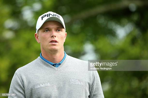 Callum Shinkwin of England looks down the 7th hole during the second round of the Dubai Duty Free Irish Open Hosted by the Rory Foundation at The K...