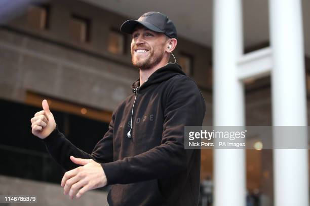 Callum Smith during the public workout at the Brookfield Place New York