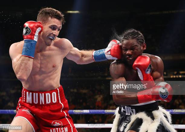 Callum Smith punches Hassan N'Dam during their WBA super middleweight title fight at Madison Square Garden on June 01 2019 in New York City