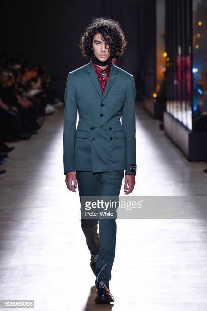 Callum Stoddart walks the runway during the Dior Homme Menswear Fall/Winter 20182019 show as part of Paris Fashion Week on January 20 2018 in Paris...