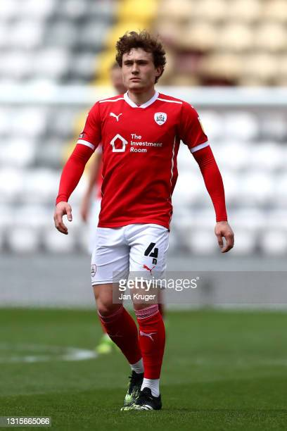 Callum Styles of Barnsley during the Sky Bet Championship match between Preston North End and Barnsley at Deepdale on May 01, 2021 in Preston,...