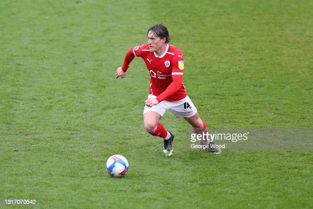 Callum Styles of Barnsley in action during the Sky Bet Championship match between Barnsley and Norwich City at Oakwell Stadium on May 08, 2021 in...
