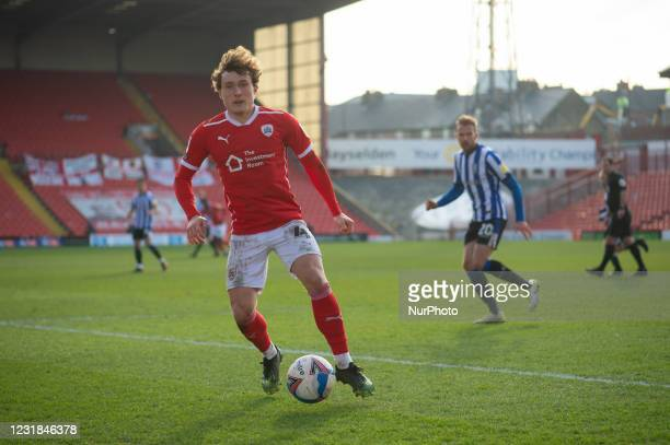 Callum Styles of Barnsley on the ball during the SkyBet Championship match between Barnsley and Sheffield Wednesday at Oakwell, Barnsley on Saturday...