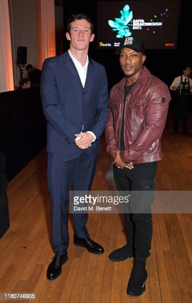 Callum Turner and Ashley Walters attend the BAFTA Breakthrough Brits celebration event in partnership with Netflix at Banqueting House on November 7...