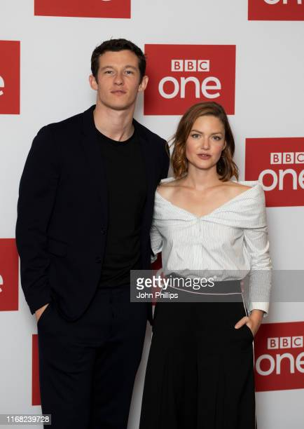 Callum Turner and Holliday Grainger attends The Capture Photocall at The Soho Hotel on August 15 2019 in London England