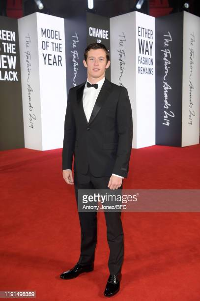 Callum Turner attends The Fashion Awards 2019 held at Royal Albert Hall on December 02 2019 in London England