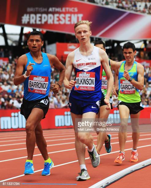 Callum Wilkinson of Great Britain in action during the Mens 1 Mile Race walk during the Muller Anniversary Games at London Stadium on July 9 2017 in...