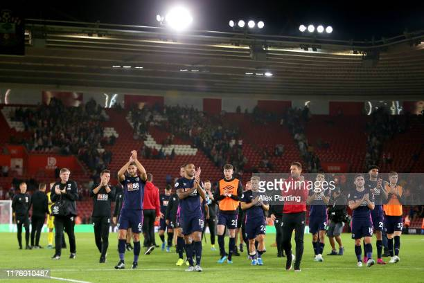 Callum Wilson of AFC Bournemouth acknowledges the fans after the Premier League match between Southampton FC and AFC Bournemouth at St Mary's Stadium...
