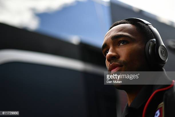 Callum Wilson of AFC Bournemouth arrives at the stadium prior to kick off during the Premier League match between Watford and AFC Bournemouth at...