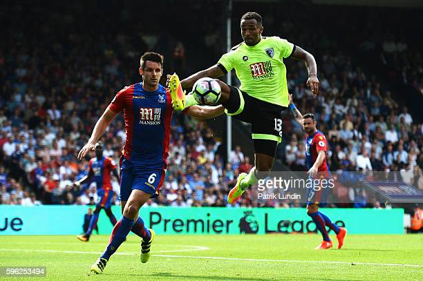 Callum Wilson of AFC Bournemouth controls the ball during the Premier League match between Crystal Palace and AFC Bournemouth at Selhurst Park on...