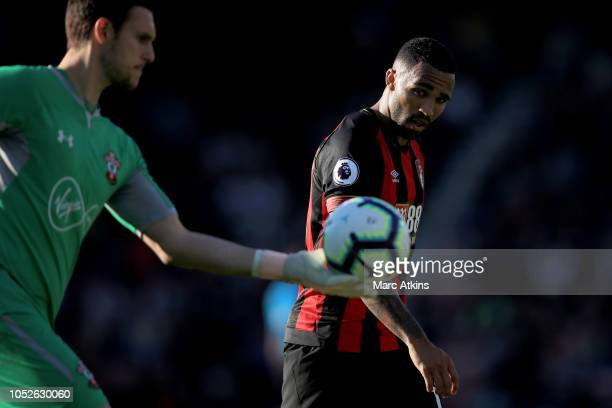 Callum Wilson of AFC Bournemouth during the Premier League match between AFC Bournemouth and Southampton FC at Vitality Stadium on October 20 2018 in...
