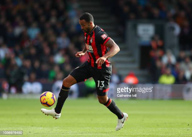 Callum Wilson of AFC Bournemouth during the Premier League match between AFC Bournemouth and Manchester United at Vitality Stadium on November 3 2018...