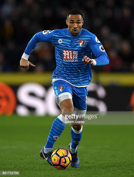 Callum Wilson of AFC Bournemouth during the Premier League match between Hull City and AFC Bournemouth at KCOM Stadium on January 14 2017 in Hull...