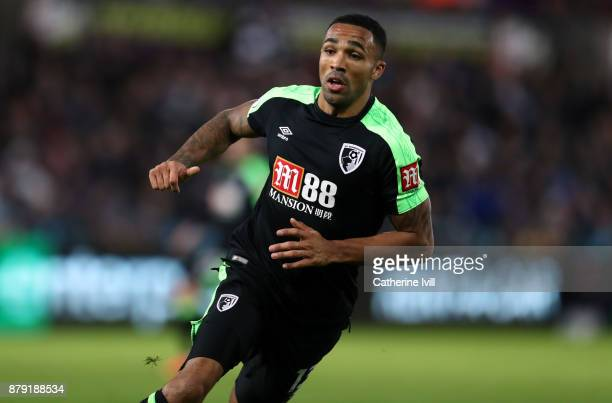 Callum Wilson of AFC Bournemouth during the Premier League match between Swansea City and AFC Bournemouth at Liberty Stadium on November 25 2017 in...