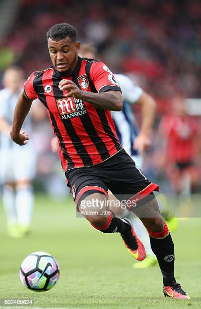 Callum WIlson of AFC Bournemouth in action during the Premier League match between AFC Bournemouth and West Bromwich Albion at Vitality Stadium on...
