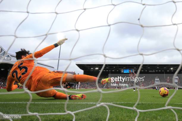 Callum Wilson of AFC Bournemouth scores the opening goal from the penalty spot during the Premier League match between Fulham FC and AFC Bournemouth...