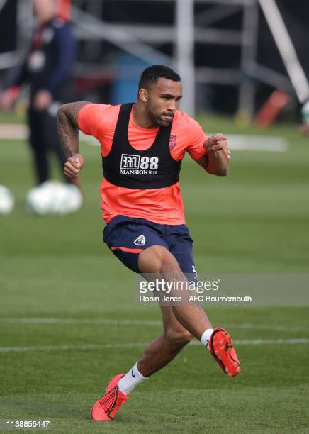 Callum Wilson of Bournemouth during a training session at the Vitality Stadium on March 28, 2019 in Bournemouth, England.