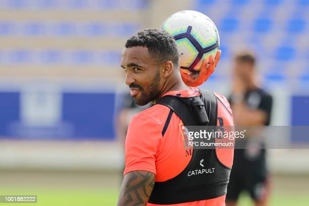 Callum Wilson of Bournemouth during preseason training on July 19 2018 in La Manga Spain