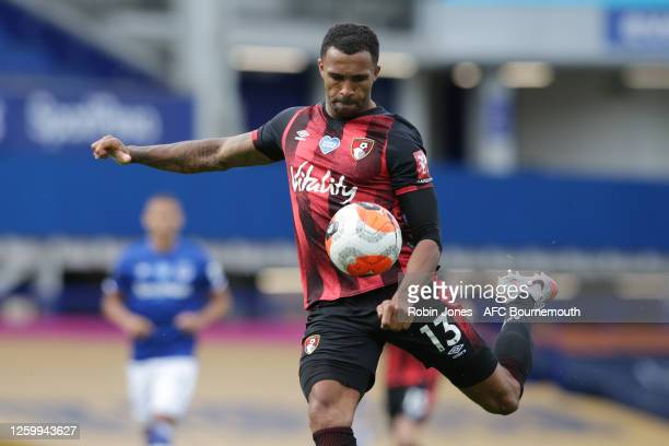 Callum Wilson of Bournemouth during the Premier League match between Everton FC and AFC Bournemouth at Goodison Park on July 26 2020 in Liverpool...