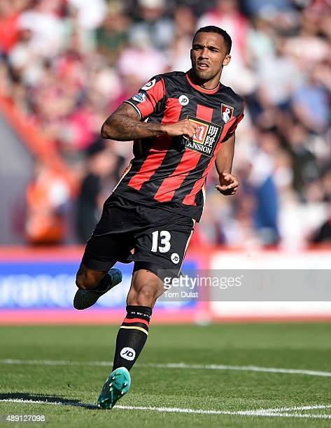 Callum Wilson of Bournemouth in action during the Premier League match between Bournemouth and Sunderland at the Vitality Stadium on September 19...